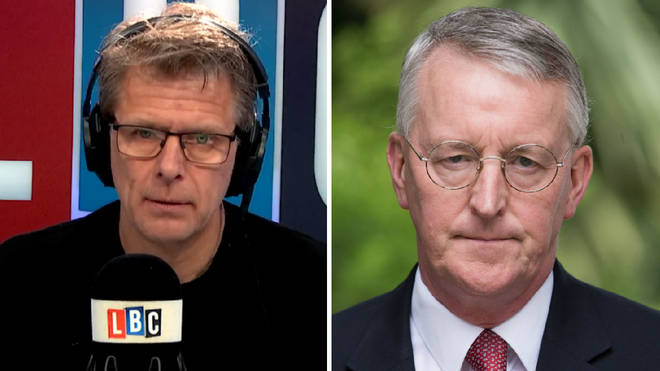 Andrew Castle and Hilary Benn