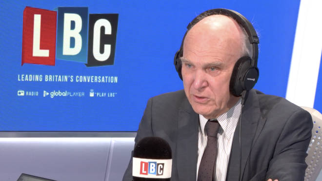 Sir Vince Cable in the LBC studio