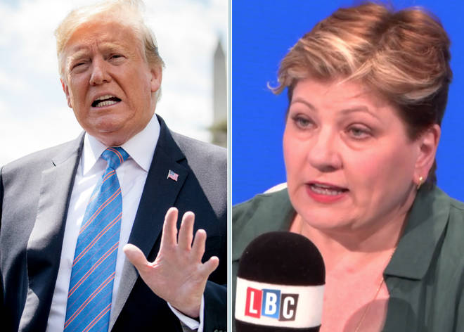 Emily Thornberry won't be going to Trump's UK state banquet next month