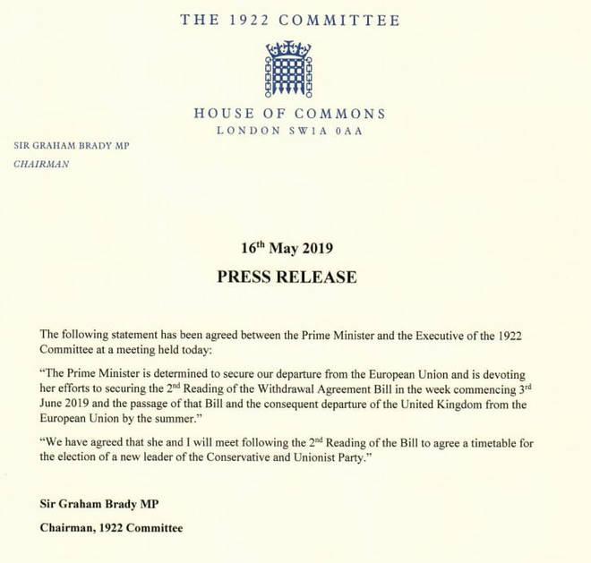 Sir Graham Brady's letter.