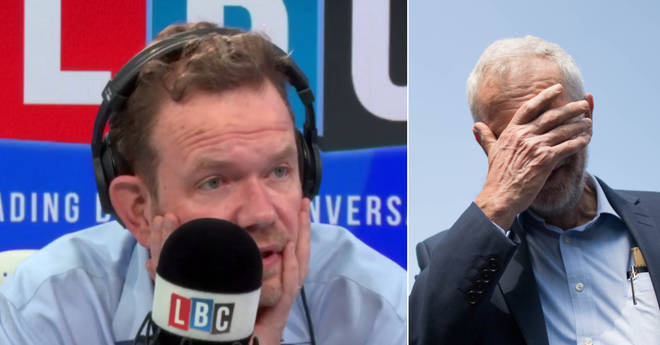 James O'Brien responded to Theo Usherwood's update on Jeremy Corbyn