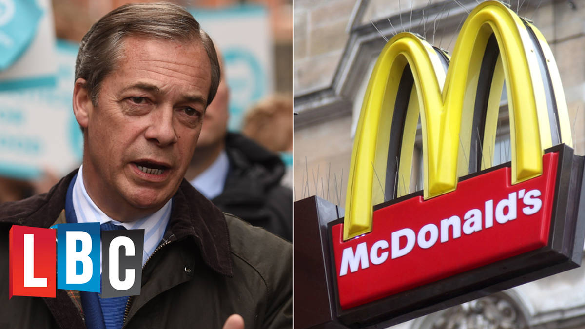McDonalds Told To Not Sell Ice Cream Or Milkshakes Ahead Of Nigel Farage Rally