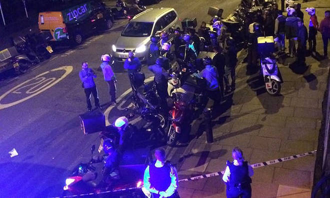 The scene after last night's acid attack spree in London