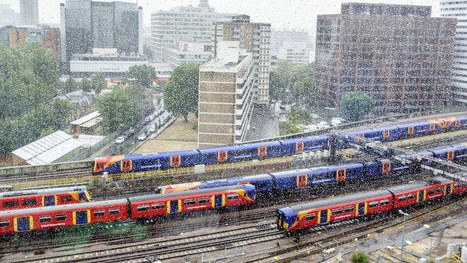 South Western Railway trains approaching Waterloo Station