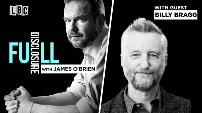 James O'Brien with Billy Bragg