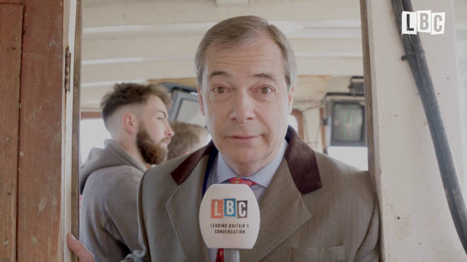 Nigel Farage on the Brexit boat