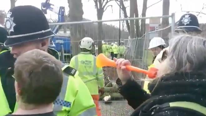 Hasil gambar untuk woman arrested toy trumpet