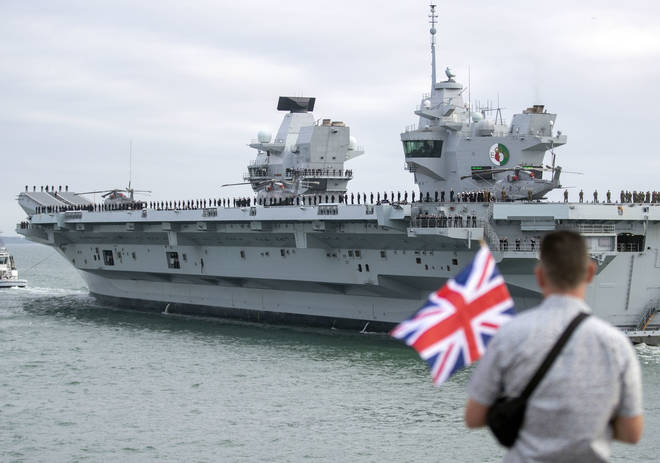 HMS Queen Elizabeth is the largest warship built for the Royal Navy.