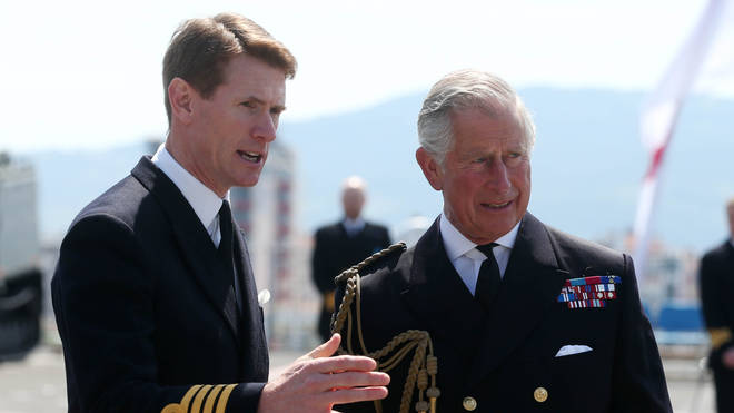 Captain Nick Cooke-Priest with the Prince of Wales.
