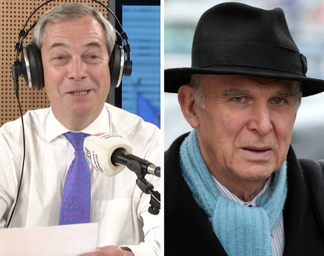 Nigel Farage Vince Cable