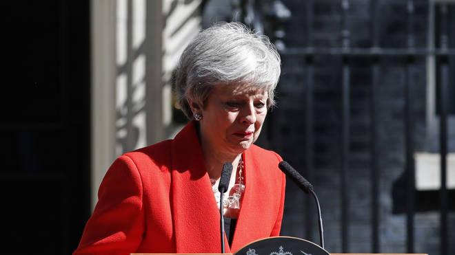 Theresa May breaks down in tears as she resigns