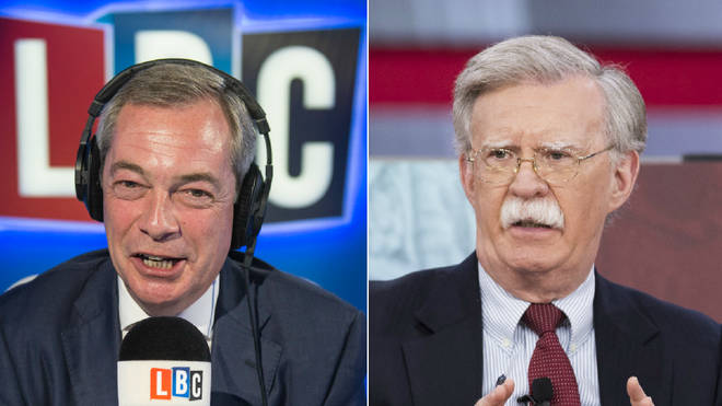 Nigel Farage and John Bolton