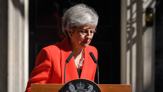 Theresa May announced she will resign as Prime Minister on June 7th in a speech outside 10 Downing Street