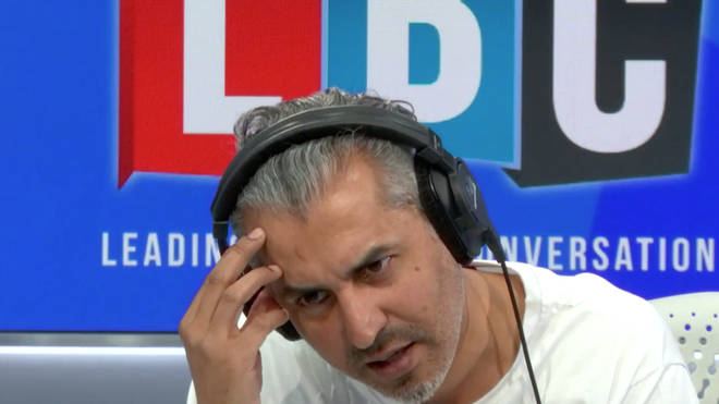 Maajid Nawaz couldn't believe a caller who compared teaching LGBT equality to domestic abuse