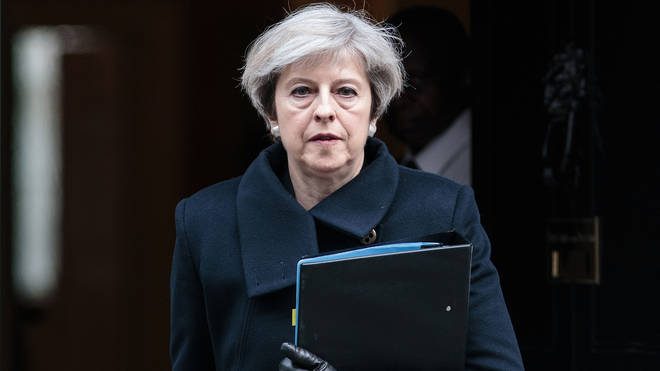 Outgoing Prime Minister Theresa May