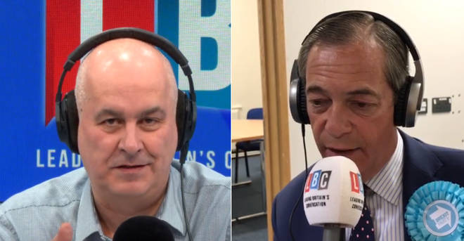 Nigel Farage gave his first interview to Iain Dale