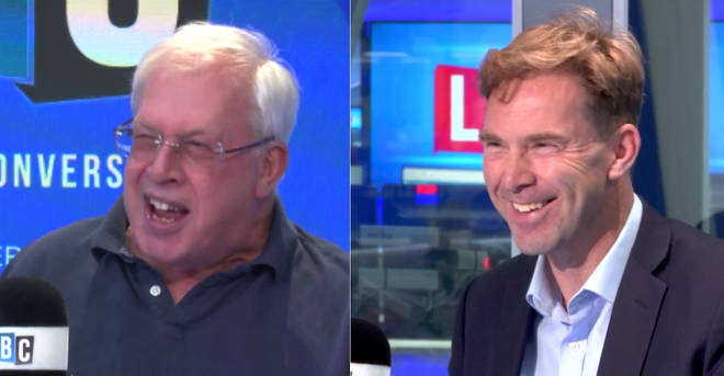 Michael Brown and Tobias Ellwood were involved in a furious row on LBC