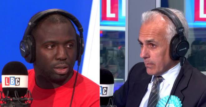 Femi Oluwole and Ben Habib had a fiery row over no-deal Brexit