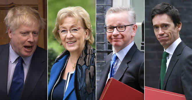 Conservative leadership candidates Boris Johnson, Andrea Leadsom, Michael Gove and Rory Stewart