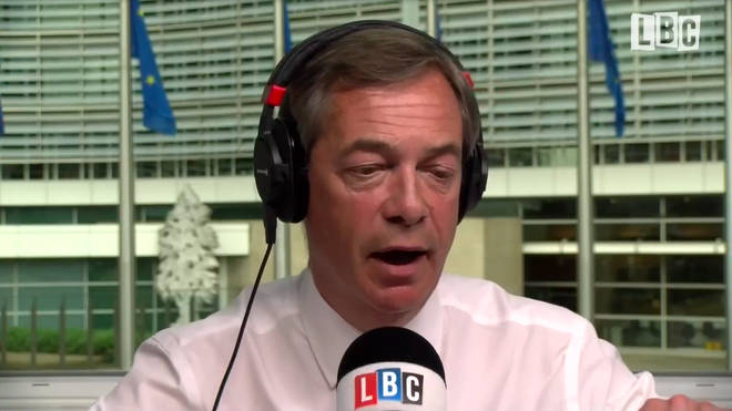 Nigel Farage was answering listeners questions from the EU Parliament in Brussels.