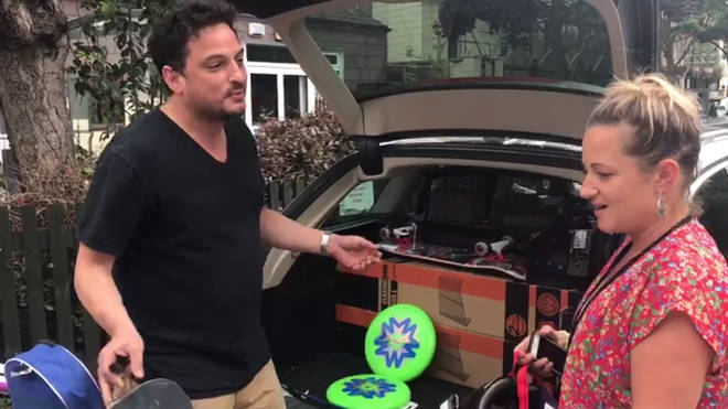 One generous LBC listener loaded his car boot with brand new equipment for children