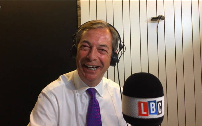 Nigel Farage couldn't help but laugh.
