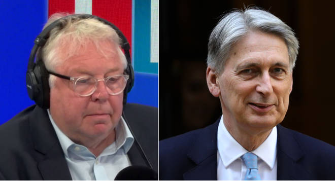 Nick Ferrari asked Philip Hammond if he'd serve under the next Prime Minister