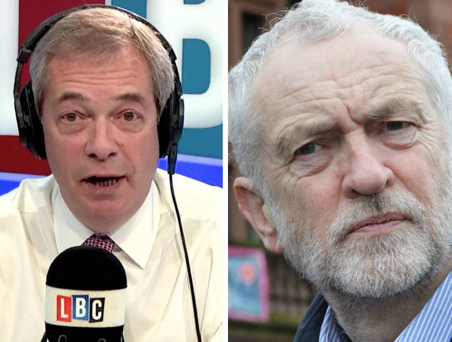 Nigel Farage Jeremy Corbyn