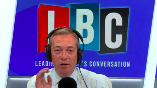 The Brexit Party leader was taking listeners calls on LBC.