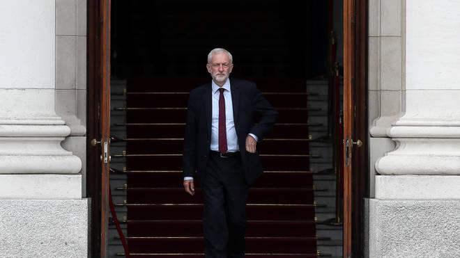 Mr Corbyn was conducting meetings in Ireland.
