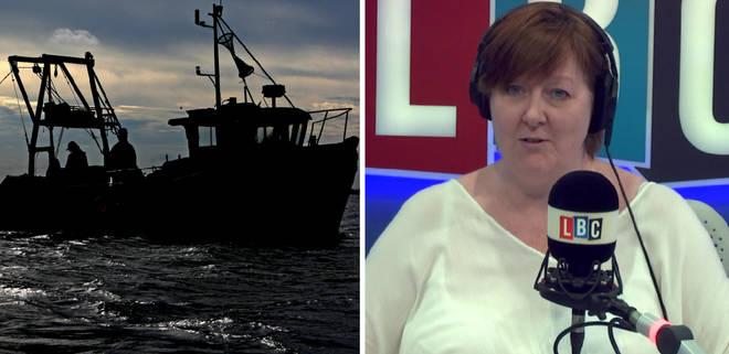 Fishing boat alongside Shelagh Fogarty