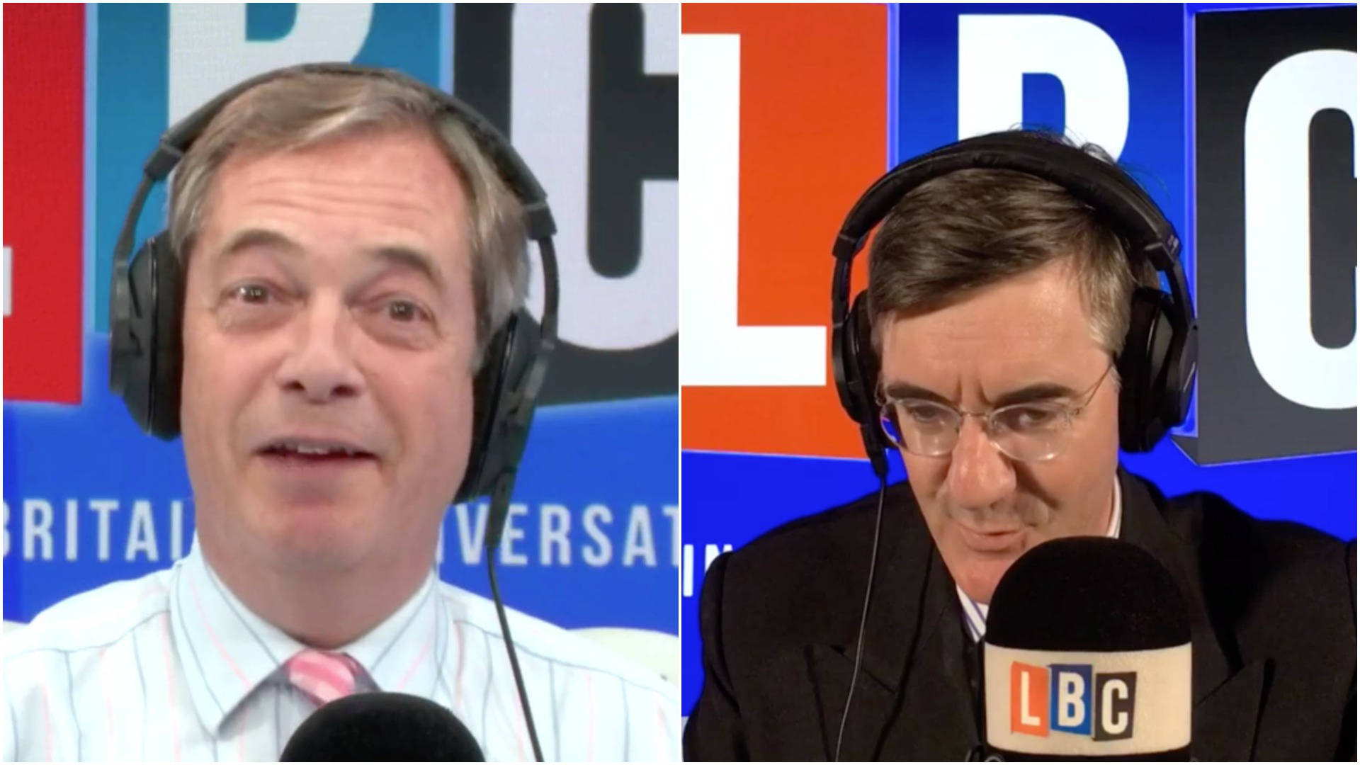Nigel Farage Calls Jacob Rees-Mogg To Demand A Seat At The Negotiating Table
