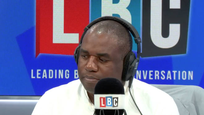 Labour MP David Lammy in the LBC studio