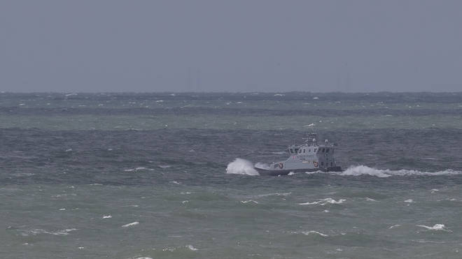 A Border Force vessel off the Dover coast