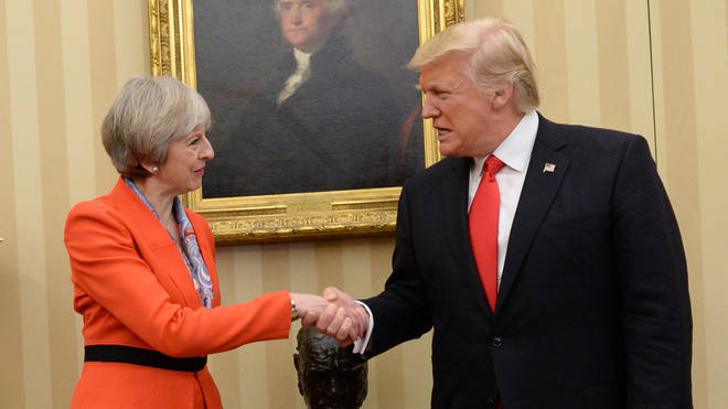 President Trump will meet Theresa May