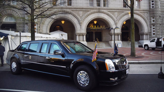 The Presidential limousine, aka The Beast