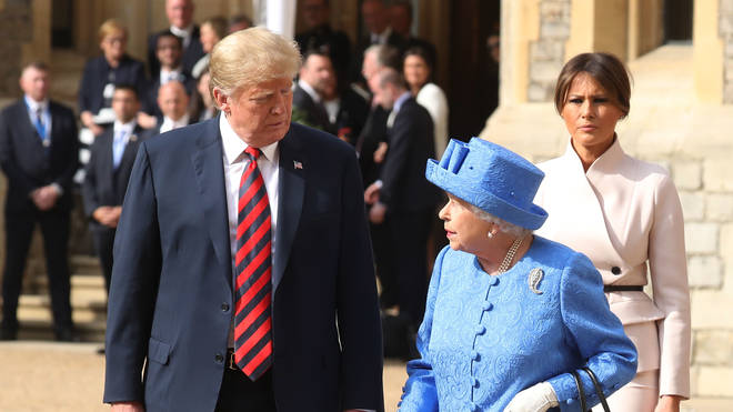 President Trump will be hosted by The Queen