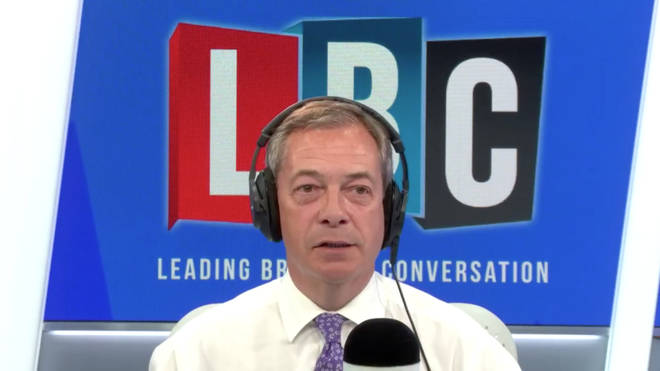 Nigel Farage was speaking on LBC