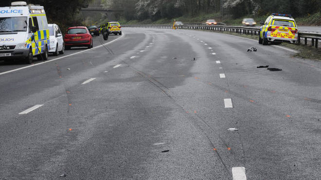 The scene after the chase on the M27.