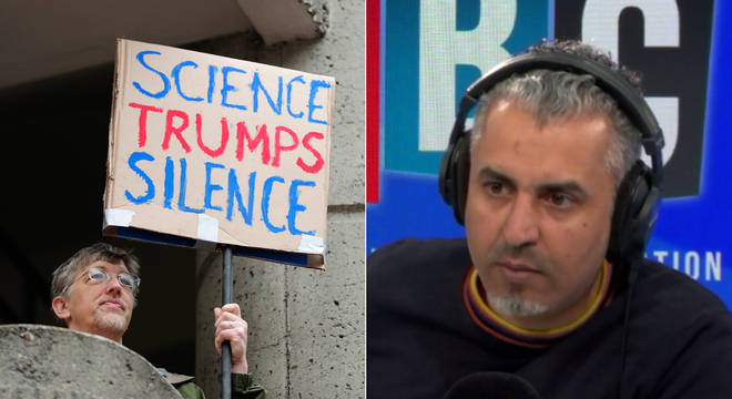Maajid Nawaz silenced this climate change denier