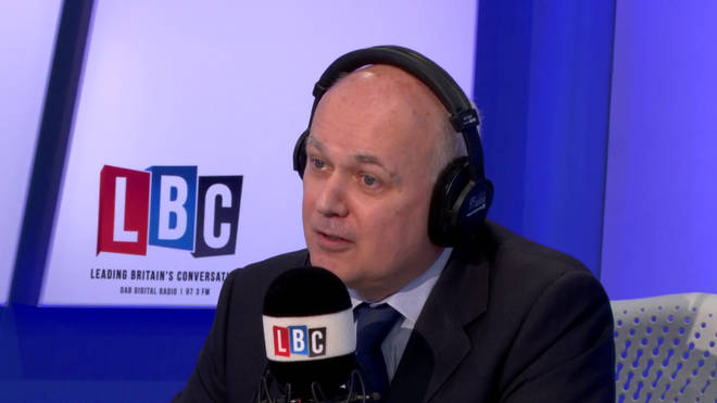 Iain Duncan Smith in the LBC studio