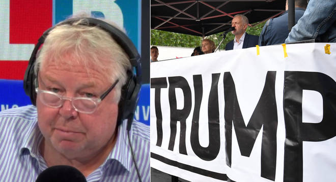 Nick Ferrari agreed with the President over Jeremy Corbyn