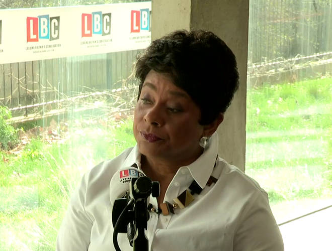 Baroness Lawrence speaking on LBC this morning
