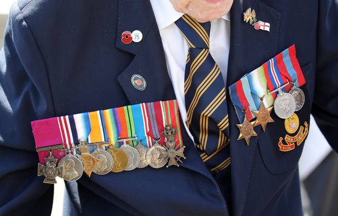 A D-Day veteran's medals