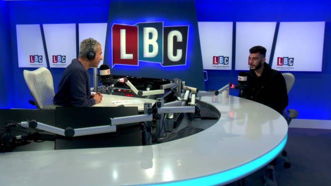 Shahmir Sanni talks to Maajiz Nawaz in the LBC studio.
