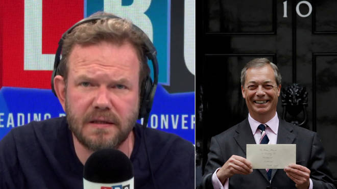 James O'Brien responded to Nigel Farage's visit to Downing Street