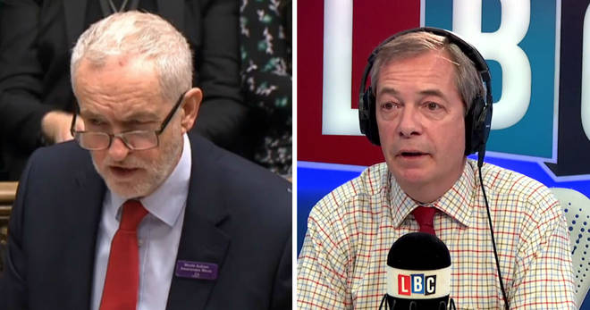 Jeremy Corbyn and Nigel Farage