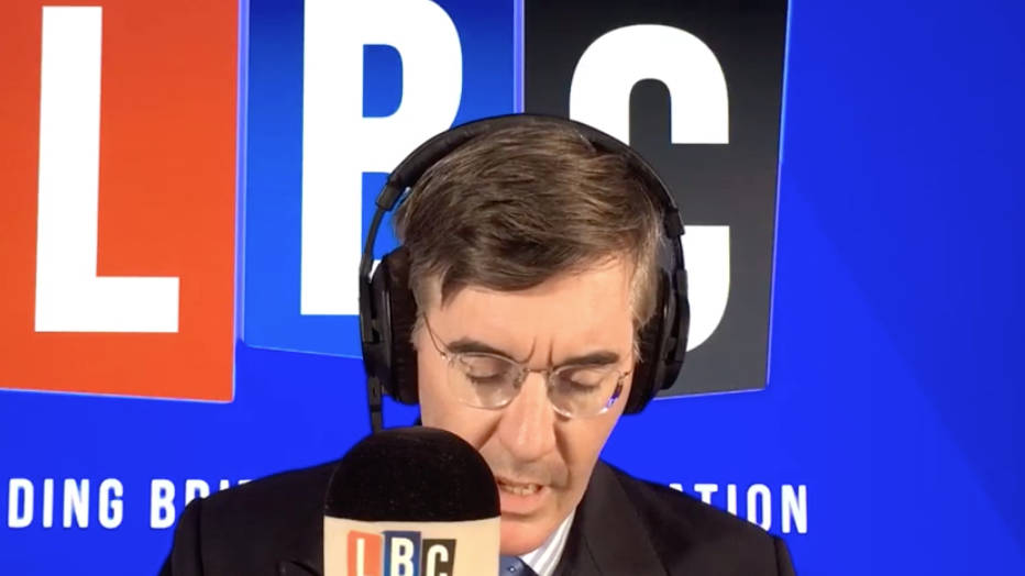 Caller Who Crowdfunded Boris Prosecution Screams His Opinion At Jacob Rees-Mogg