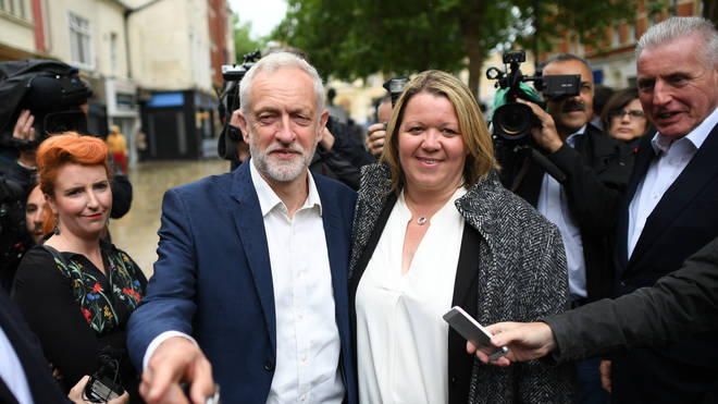 Labour leader with newly elected Lisa Forbes after the Peterborough by-election