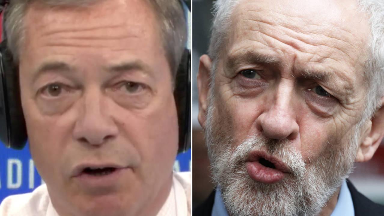 """Nigel Farage On Jeremy Corbyn's """"Catastrophic"""" Week As Labour Leader"""